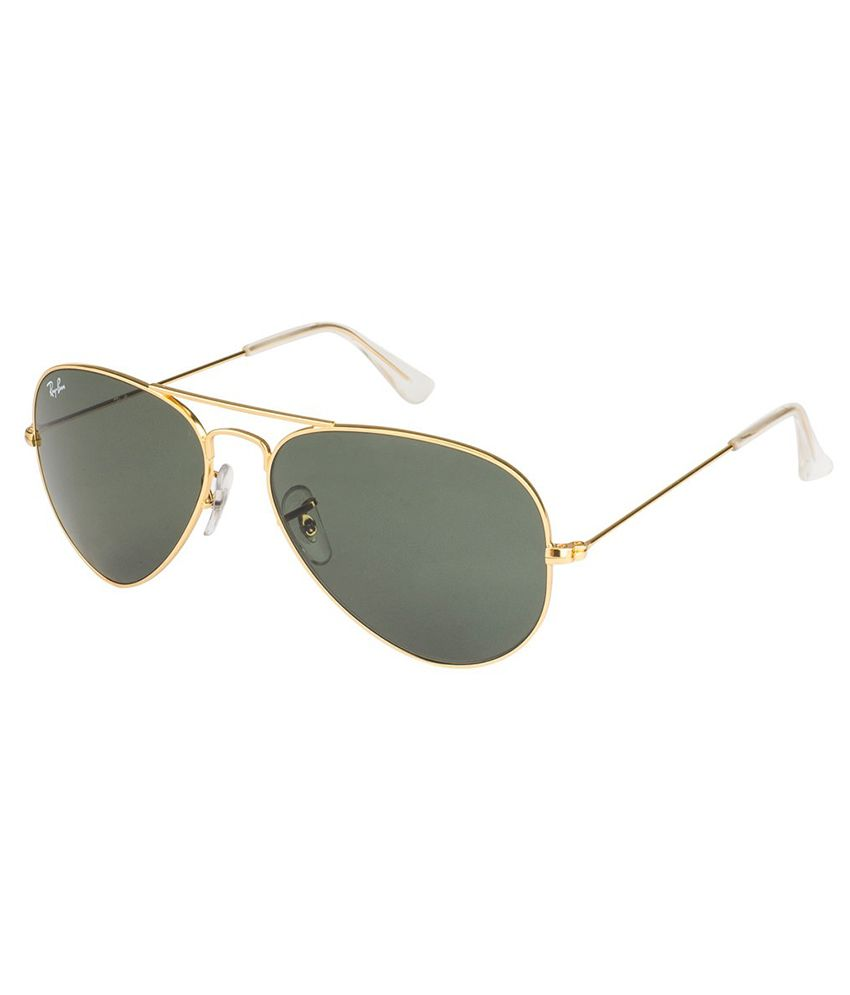 ray ban aviator 55  Ray-Ban Green Aviator Sunglasses (RB3025-0015 55-14) - Buy Ray-Ban ...