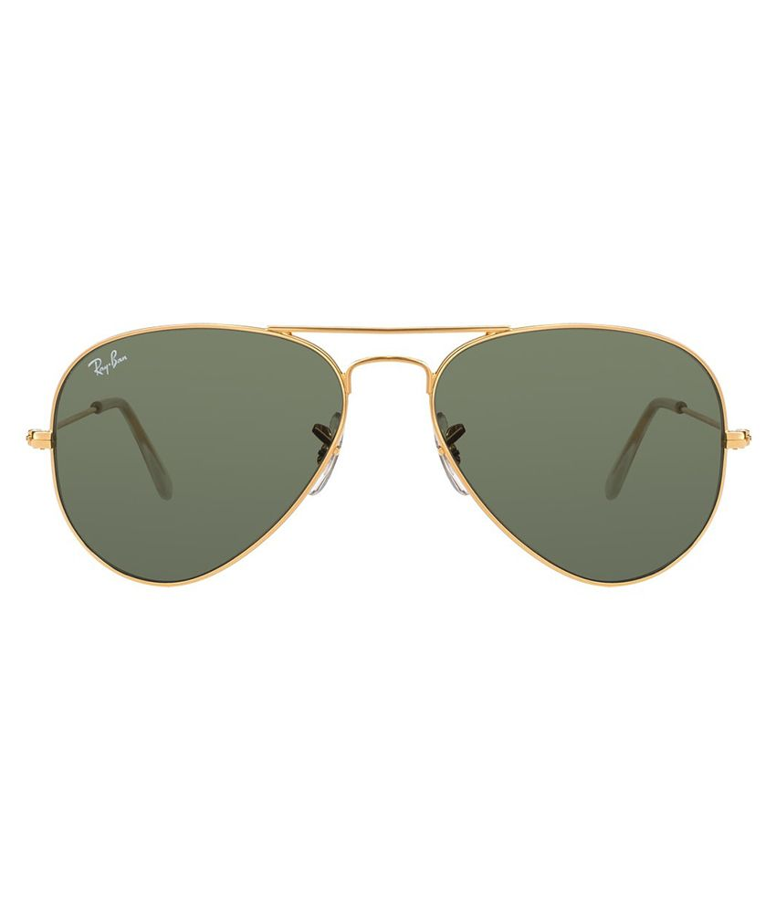 online shopping for ray ban sunglasses  ray ban green aviator sunglasses (rb3025 0015 55 14)
