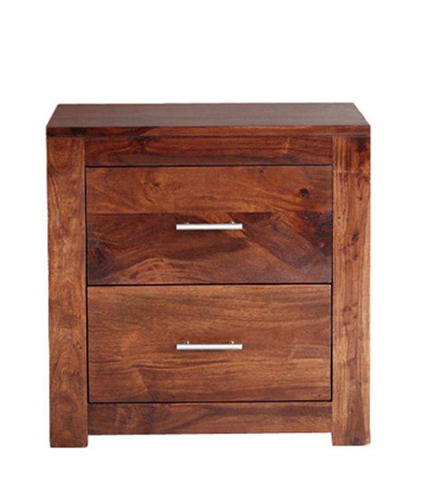 Smart Choice Sheesham Wood 2 Drawer Bedside Table