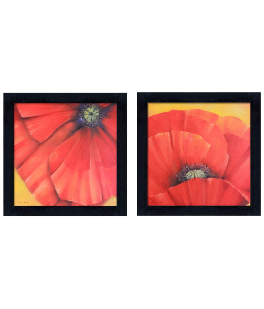 Elegant Arts & Frames Floral Framed Art Print - Set of 2