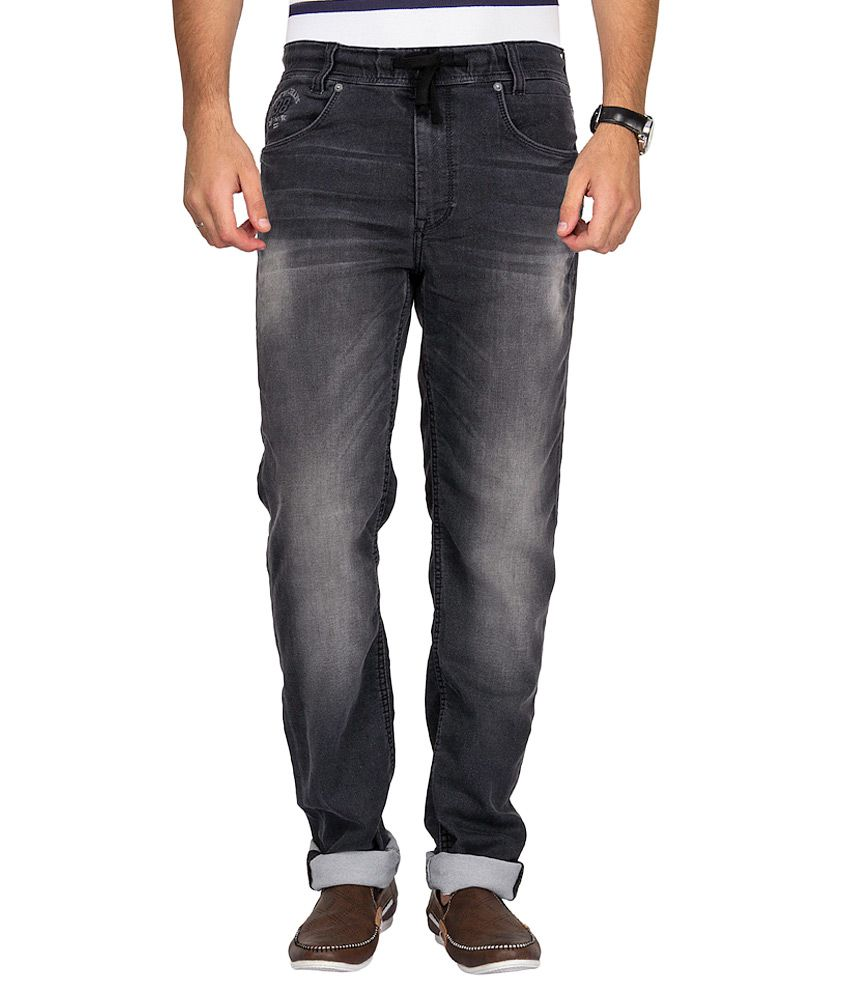 Mufti Black Relaxed Jogger