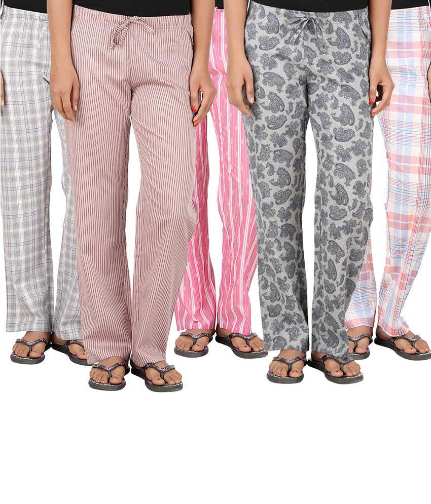 Antshrike Multi Color Cotton Pajamas
