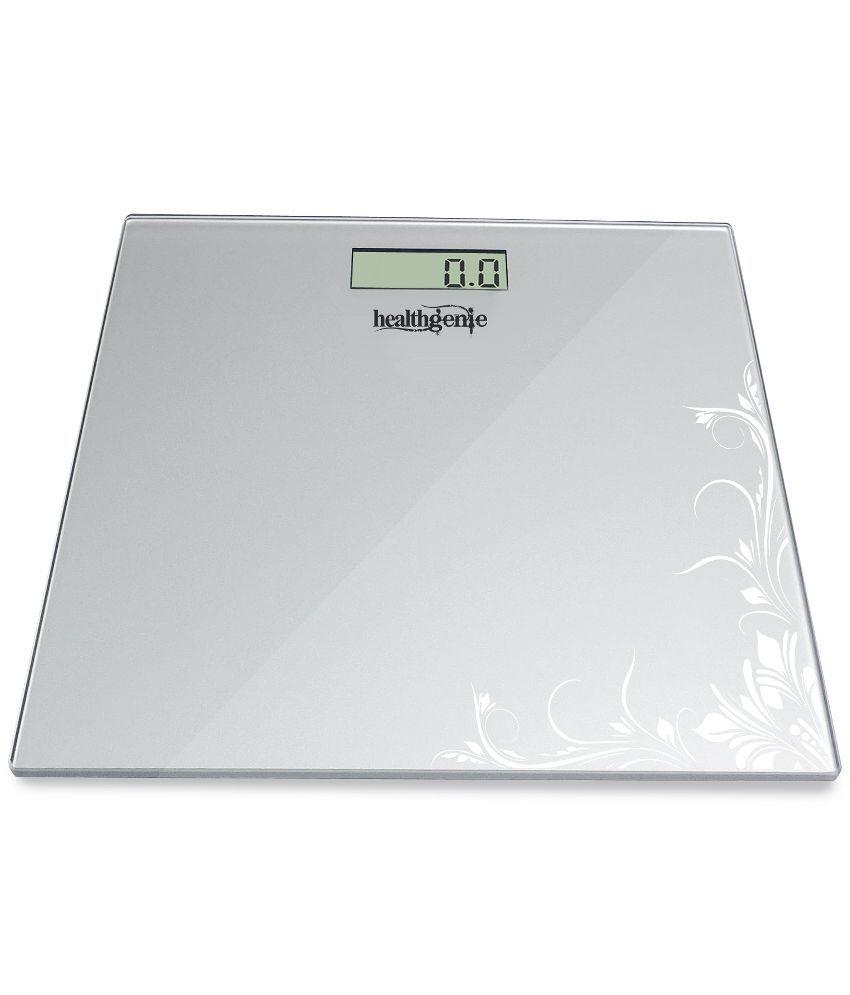 Healthgenie HD-221 Digital Weighing Scale Silver Pattern HD-221 Silver