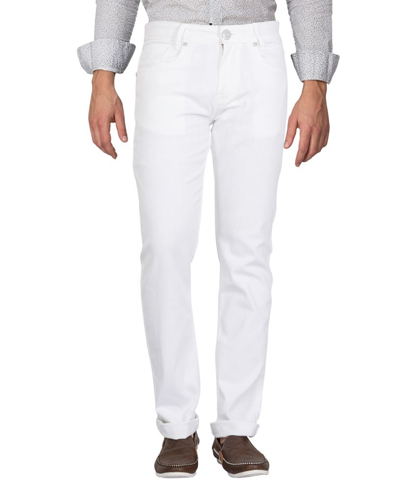 Mufti White Narrow Fit Jeans