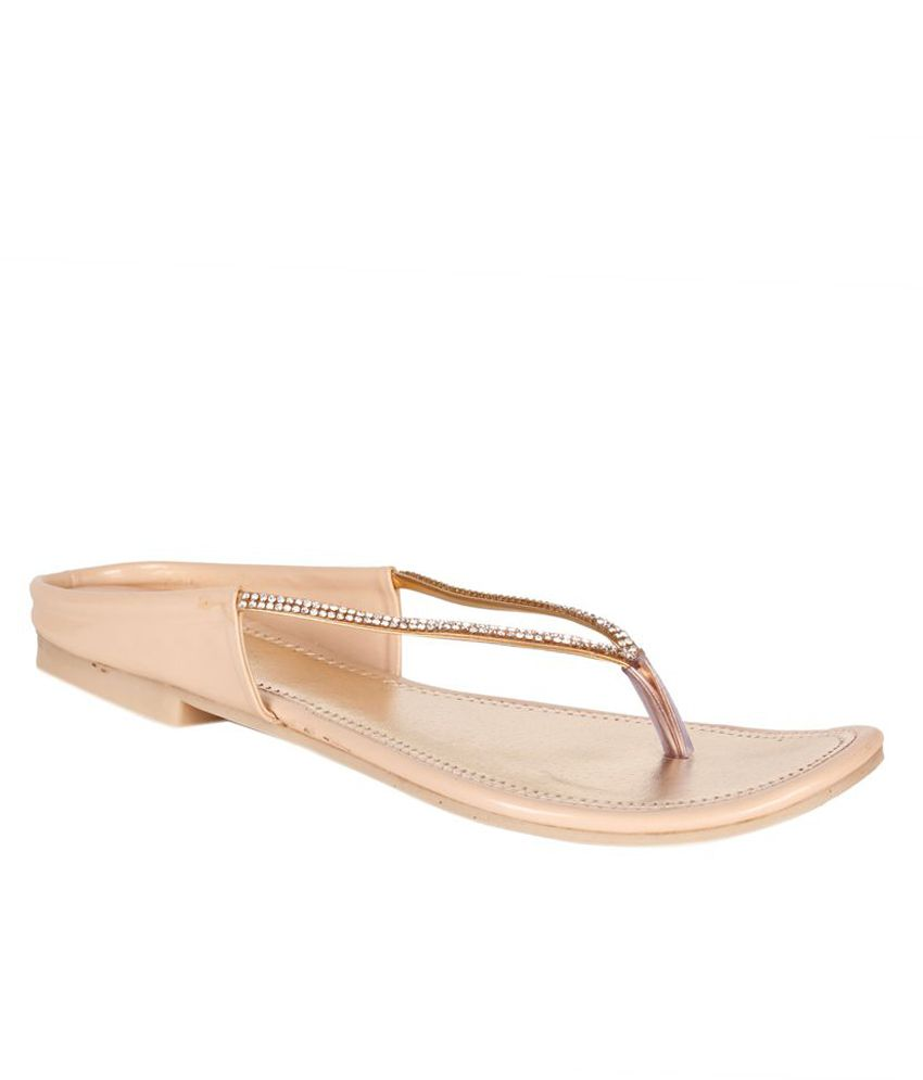 Shoes'N'Style Beige Flats