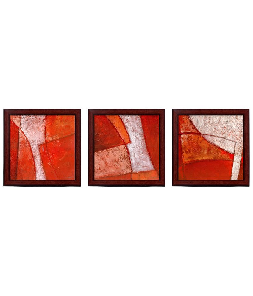 Elegant Arts & Frames Matte Abstract Wall Hangings - Set Of 3