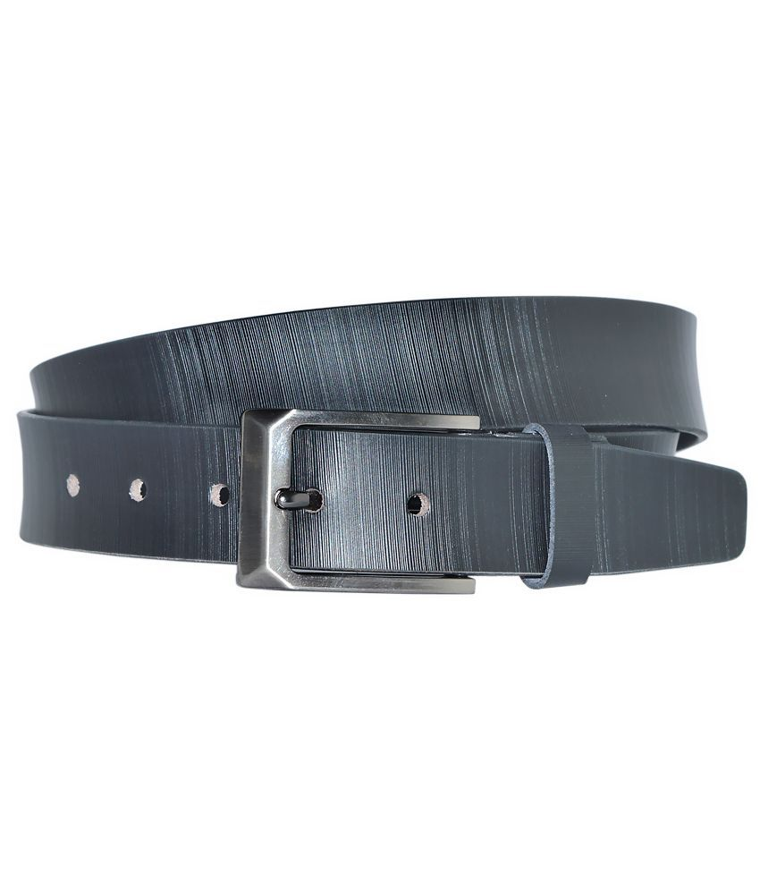 Hadwin Black Leather Formal Belt for Men