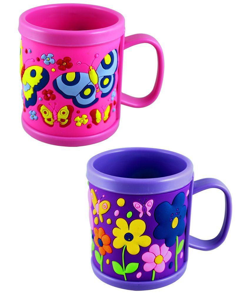 Radius Pink and Blue Plastic Mug - Set of 2