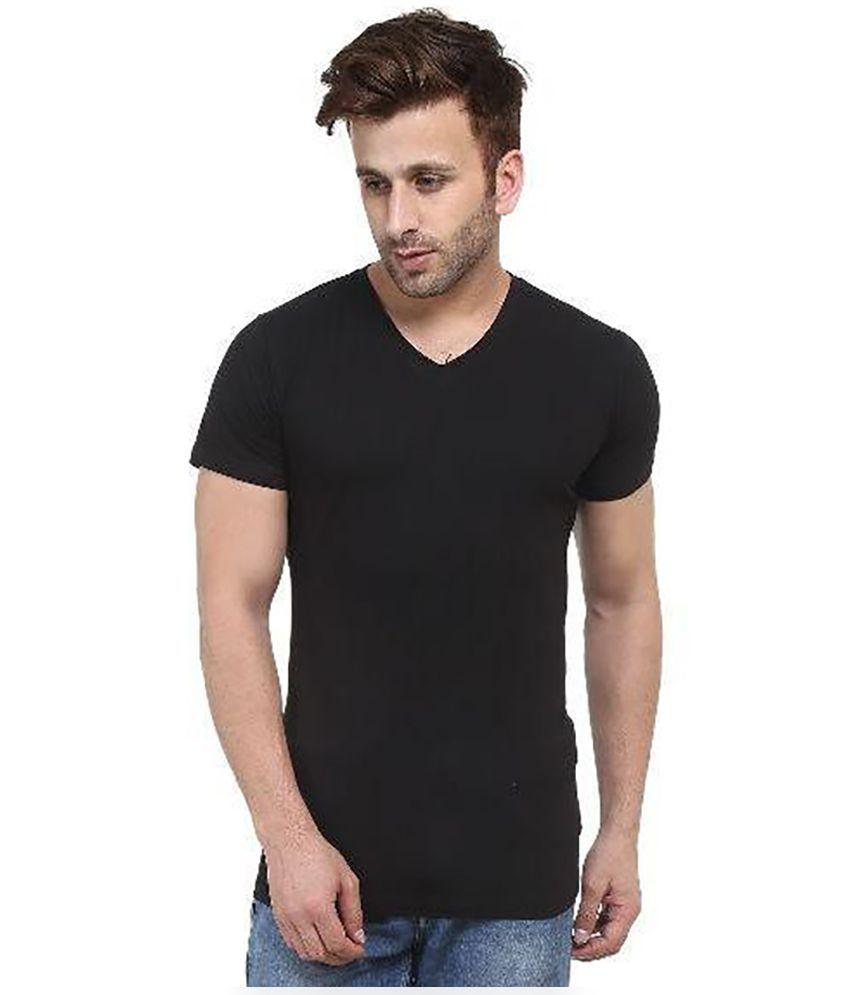 Acomharc Inc Black V-Neck T Shirt