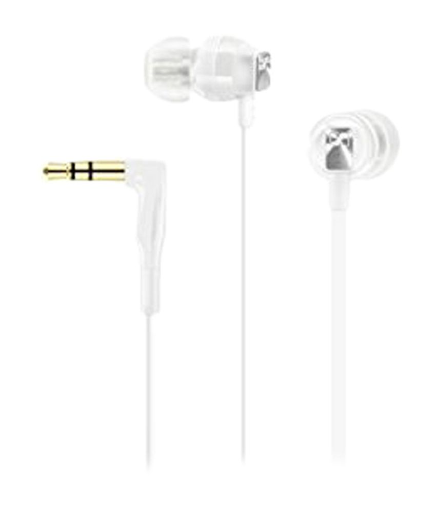 Sennheiser CX 3.00 White In Ear Wired Without Mic Earphones White