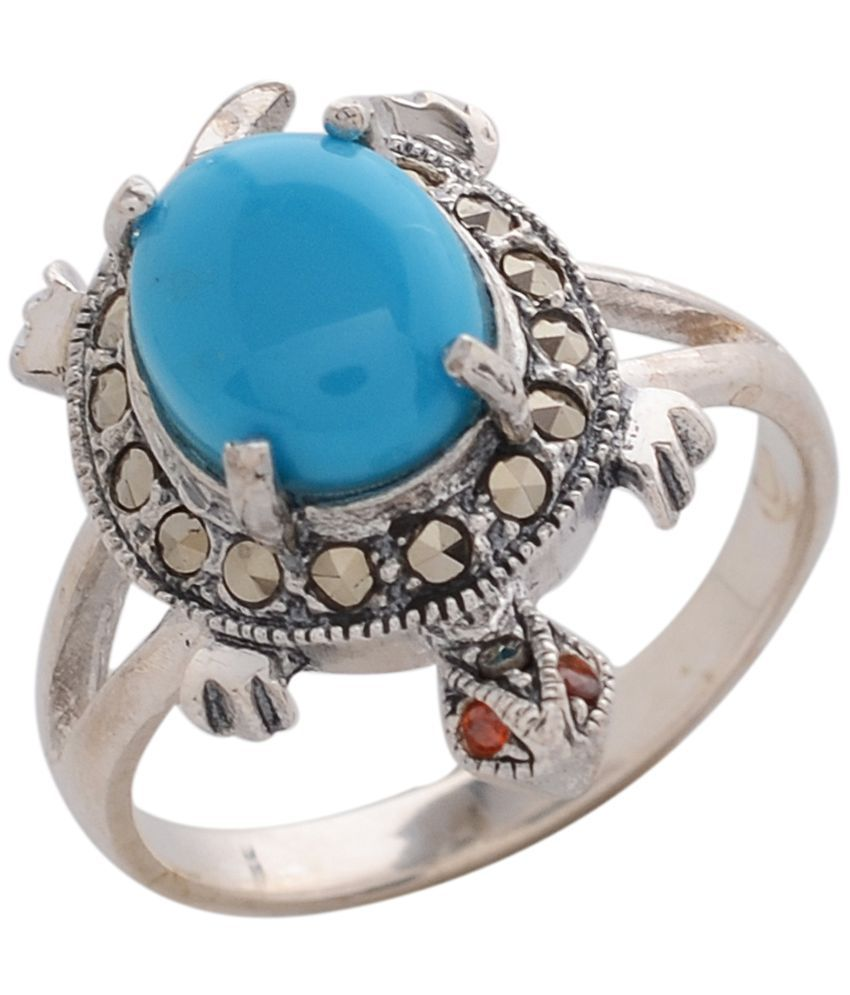 Divine Jewels Turquoise 925 Sterling Silver Ring