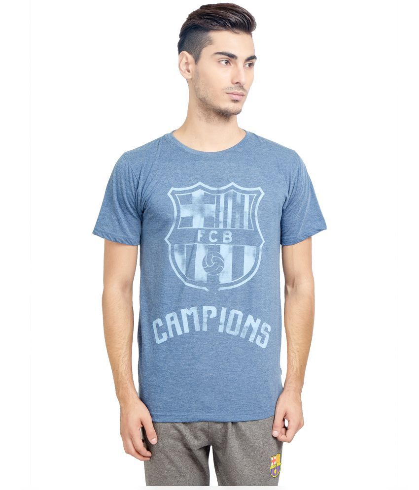FC Barcelona Blue Round T Shirt