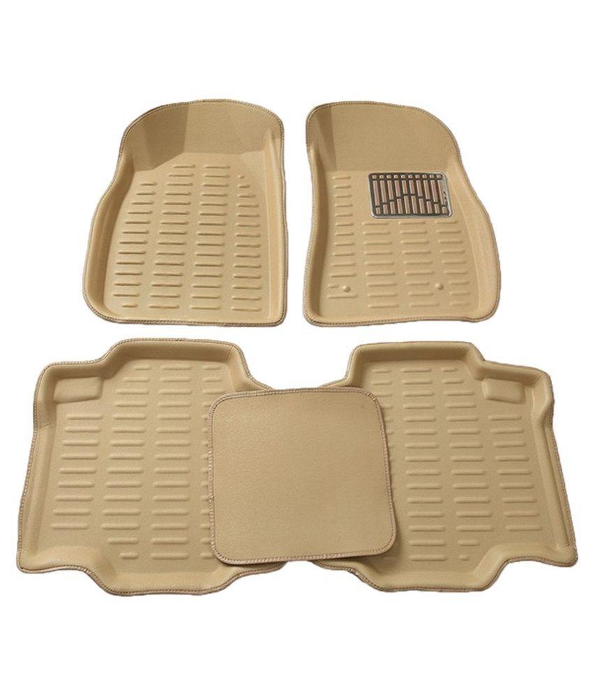 Ca car color beige - Topkart 3d Car Foot Mats Beige Color For Maruti Suzuki Wagonr Set
