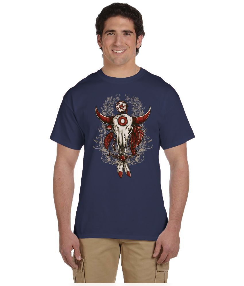 Haunting Dragons Blue Round T Shirt