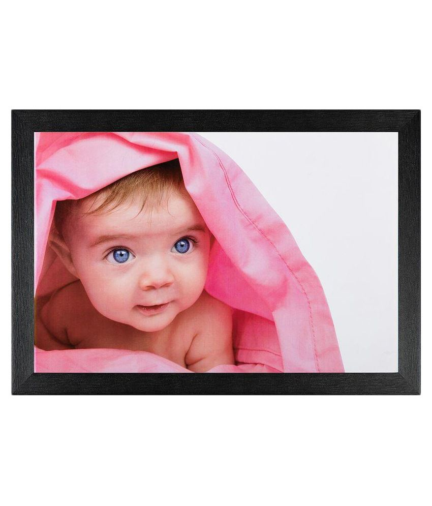 JAF Multicolour Baby Painting with Wooden Frame