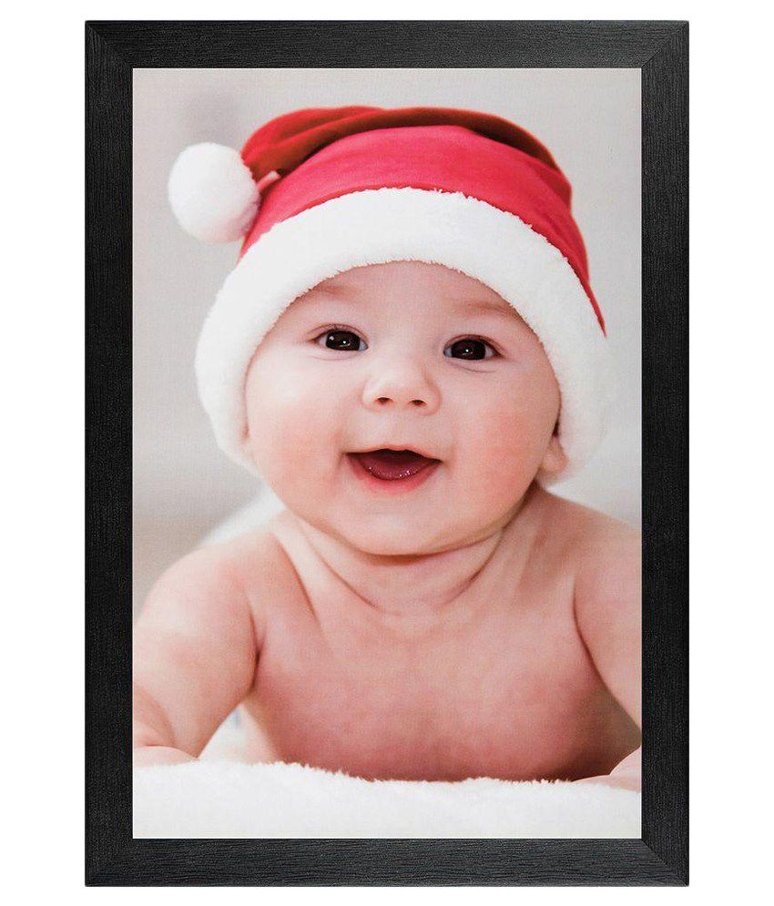 JAF Multicolour Baby Painting with Black Frame