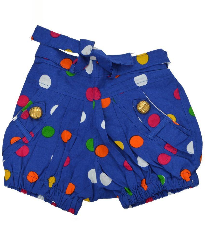 Shreemangalammart Navy Cotton Shorts