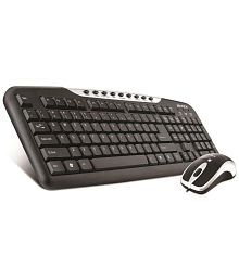 Intex DUO313 Black USB Wired Keyboard Mouse Combo