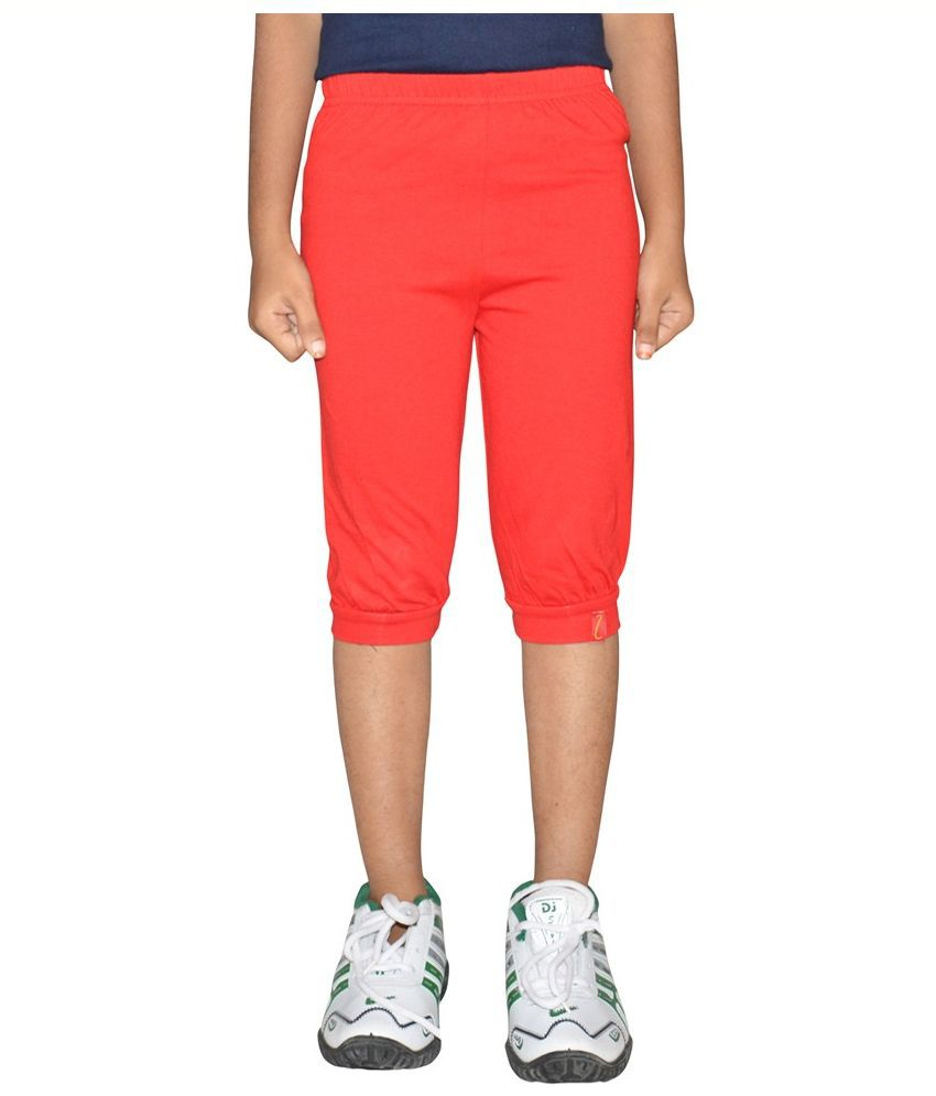 Arihant Red Capri For Girls