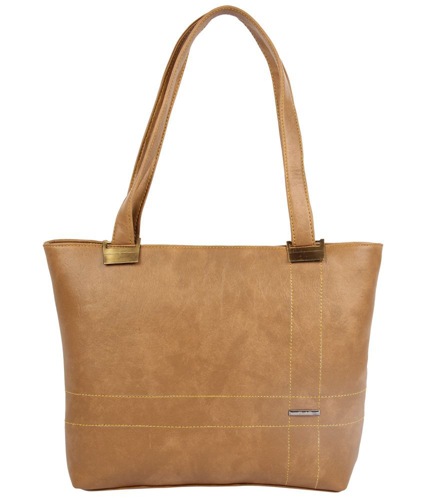 Flab Brown Faux Leather Handheld