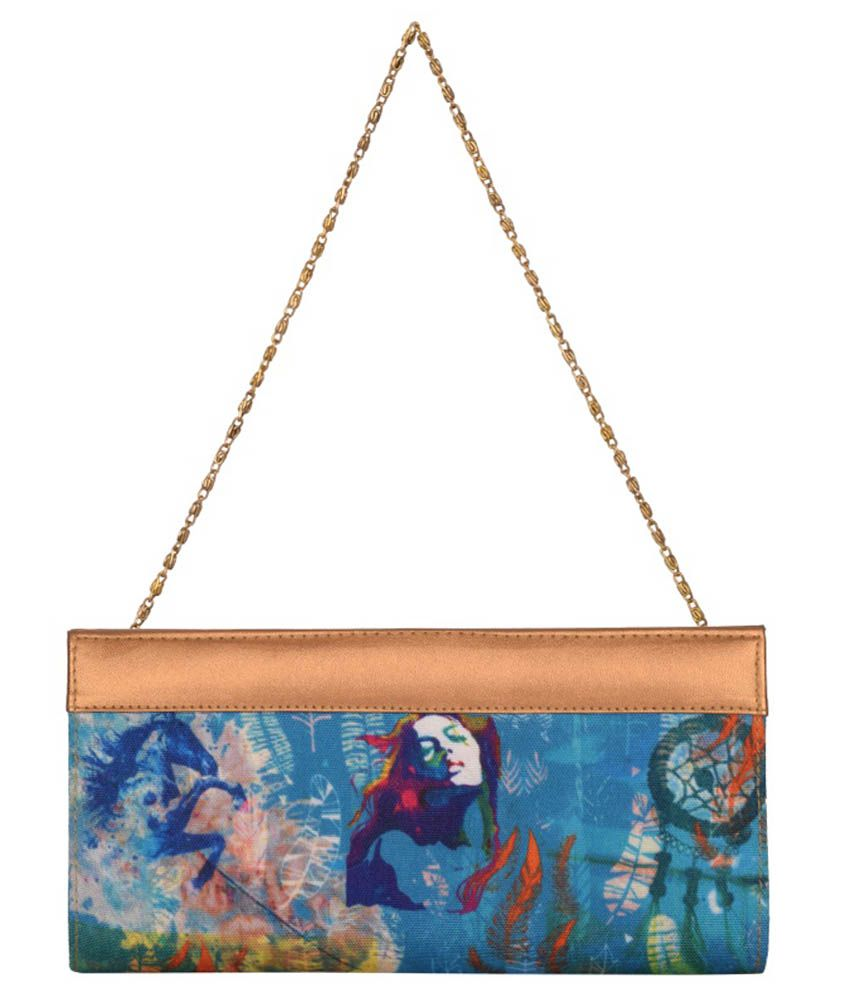 Kanvas Katha Blue Fabric Others