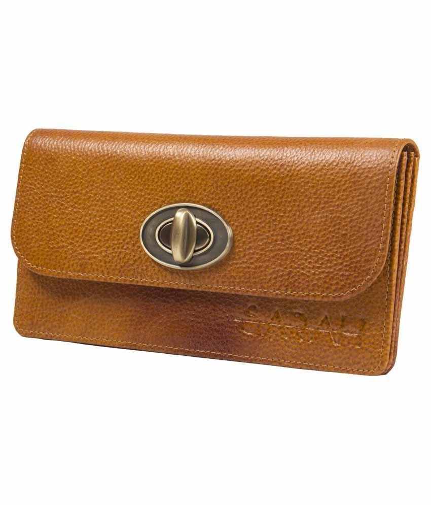 Sarah Brown Genuine Leather Clutch