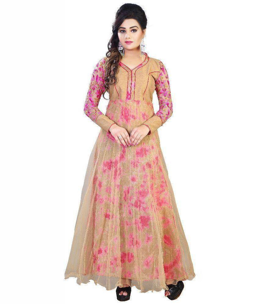 16a04213a18 Shreeji Designer Silk Gown