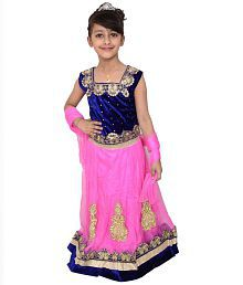 Arshia Fashions Blue and Pink Lehenga Choli Set