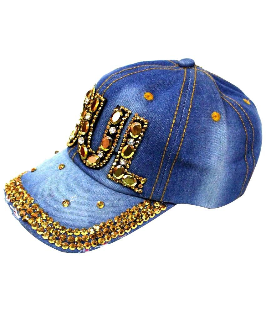 4027fed83 99Dailydeals Blue Soul Stone Stylish Denim Cap - Buy Online @ Rs. | Snapdeal