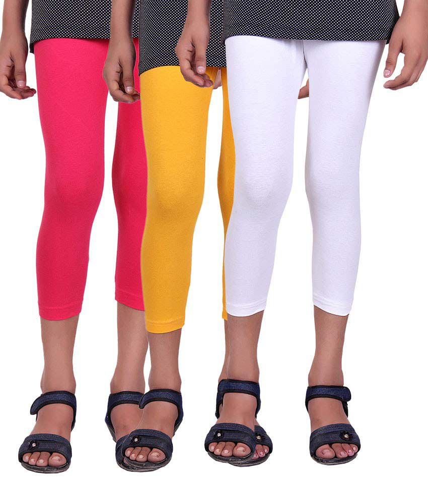 Alisha Cotton Lycra Capri - Pack of 3