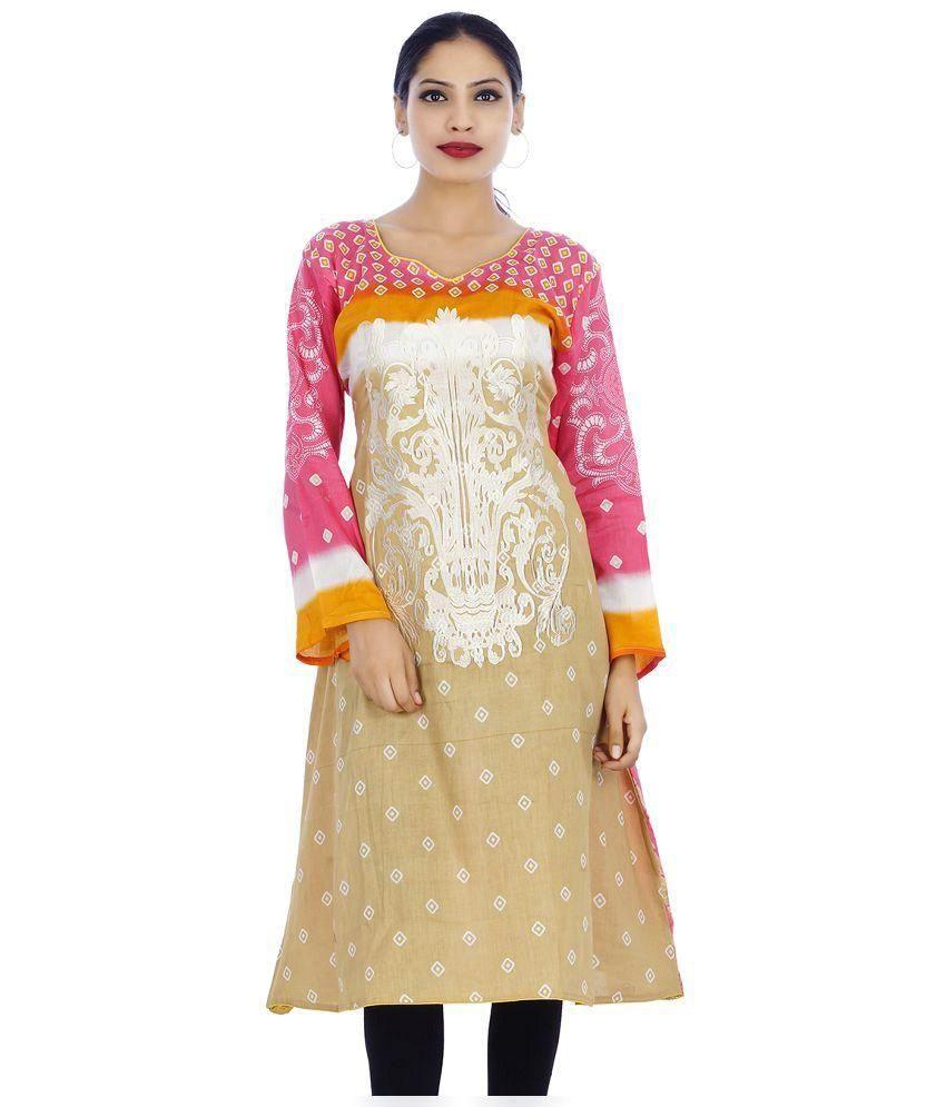 Soneya Fashion Multicoloured Cotton Straight Kurti