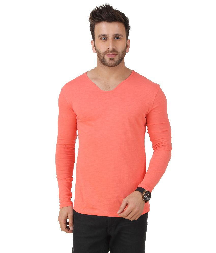 Frost Orange V-Neck T Shirt