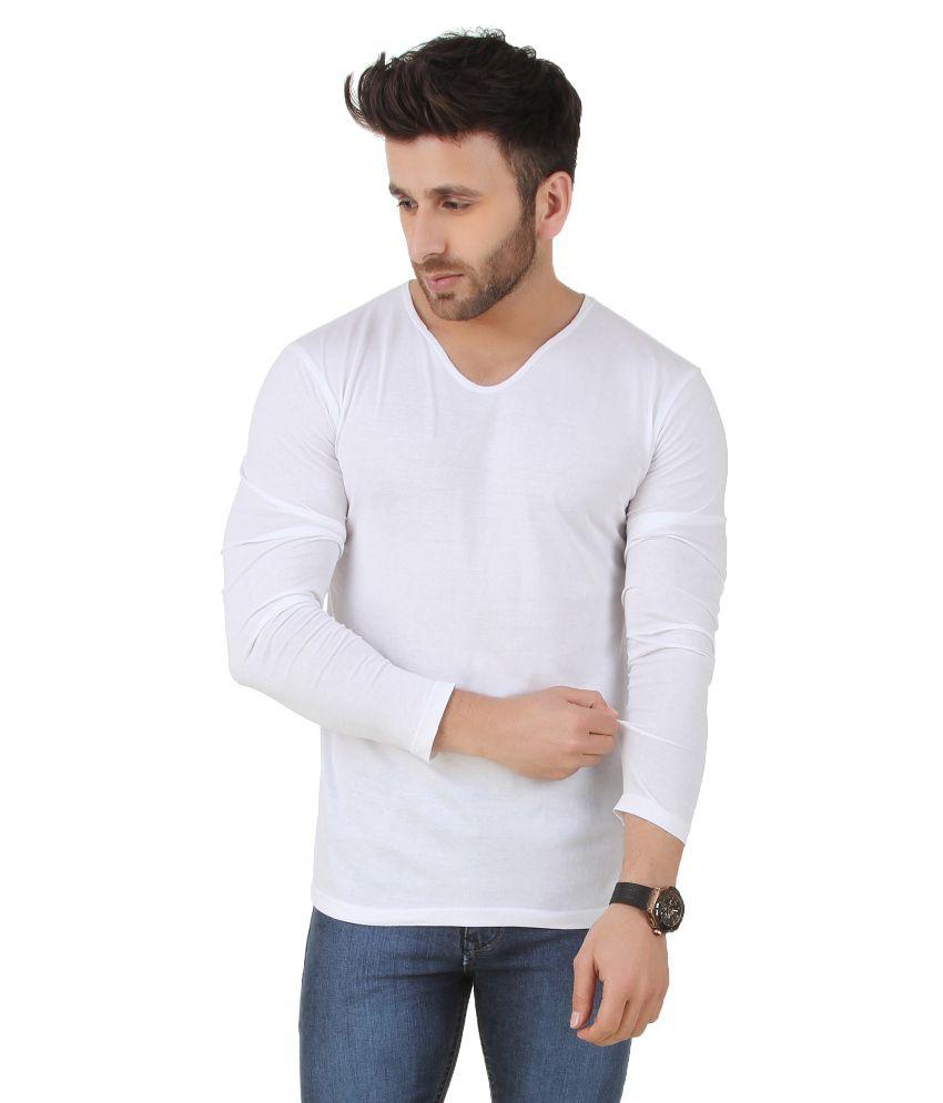 Frost White V-Neck T Shirt