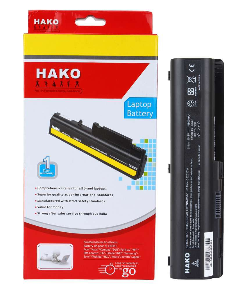 Hako Hp Compaq Pavilion Dv6-2066dx 6 Cell Laptop Battery