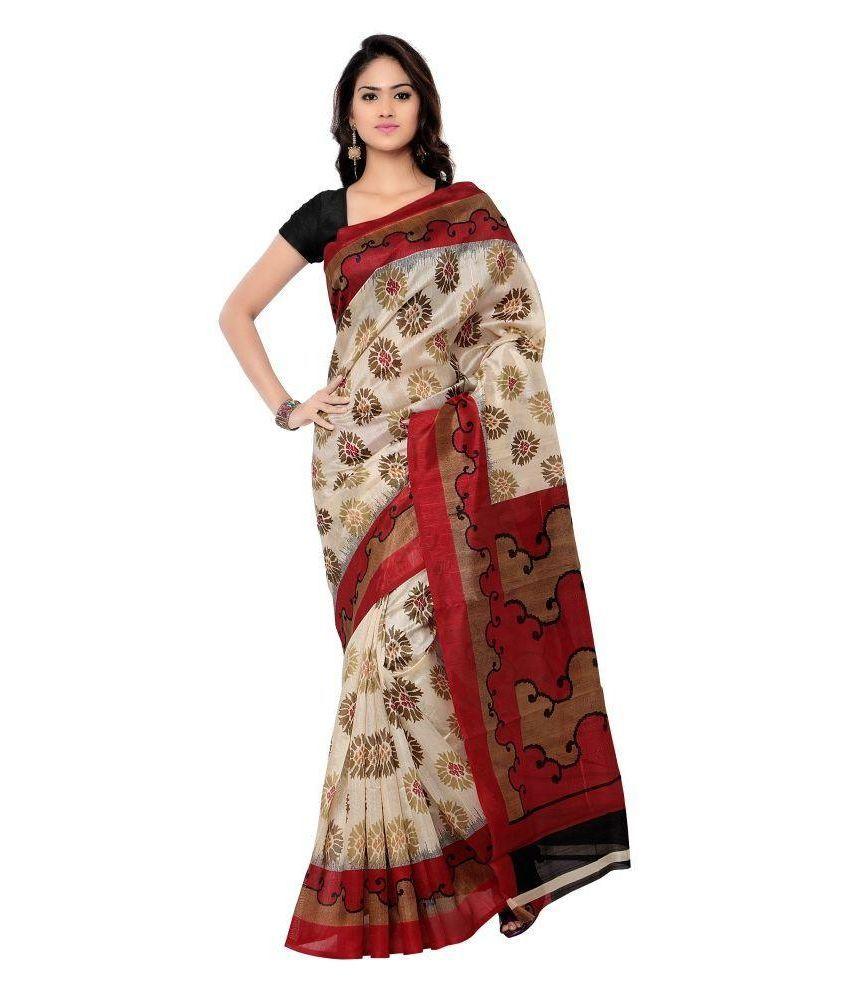 Kavita Textiles Multicoloured Bhagalpuri Silk Saree