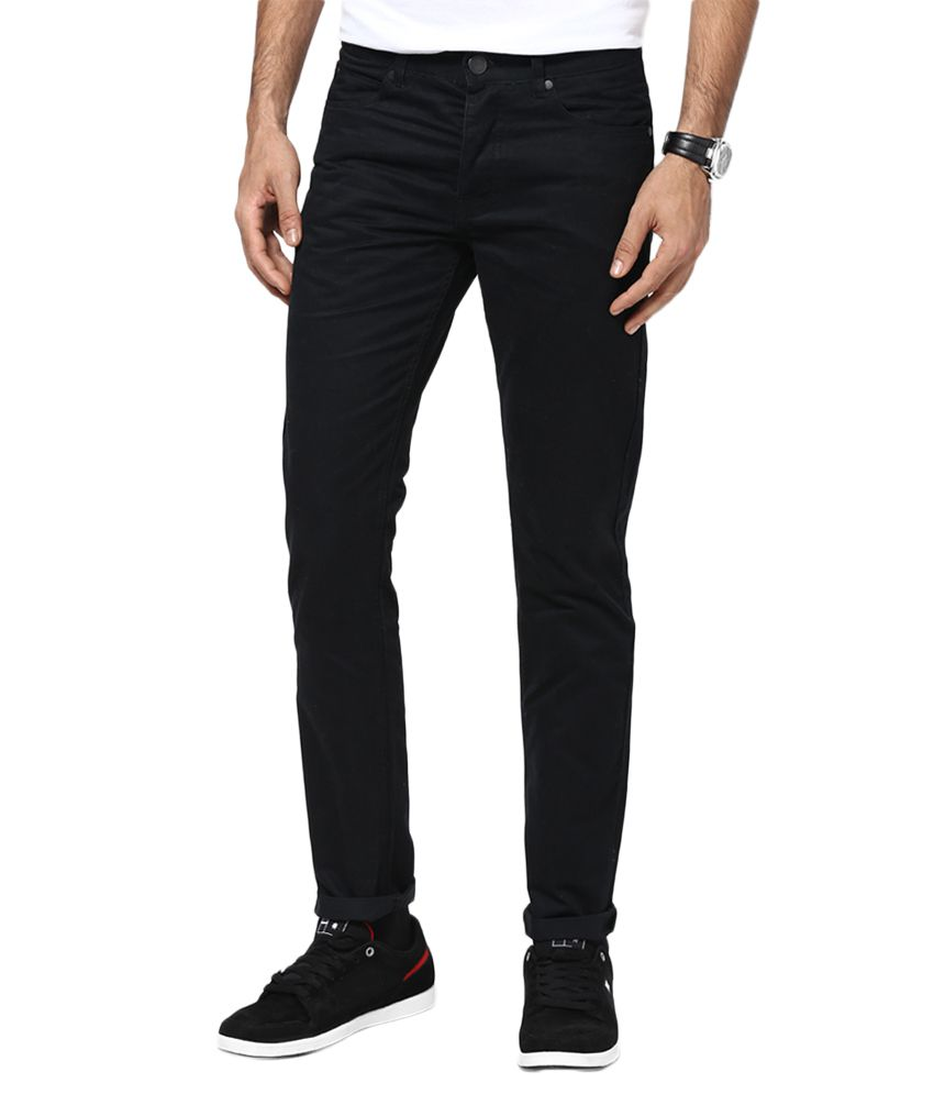 Jack & Jones Black Slim Fit Trousers