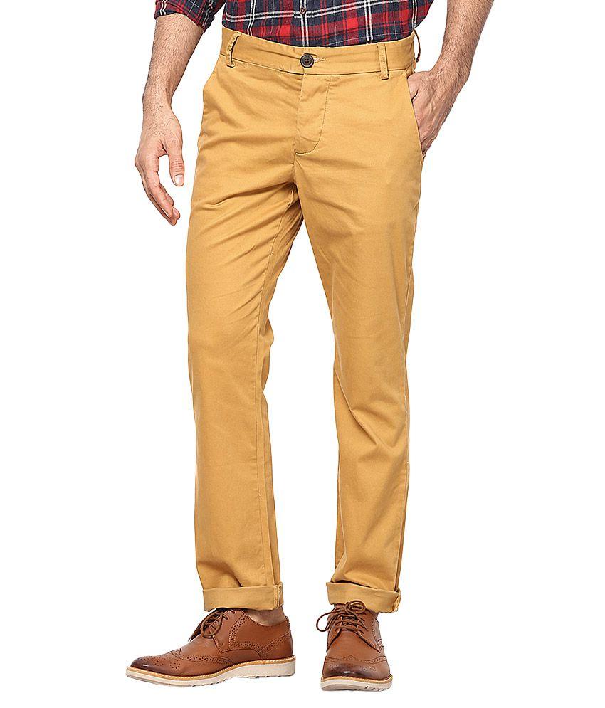 Jack & Jones Khaki Slim Fit Trousers