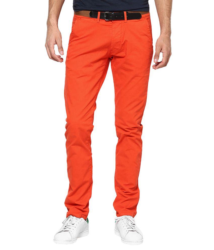 Jack & Jones Orange Slim Fit Trousers