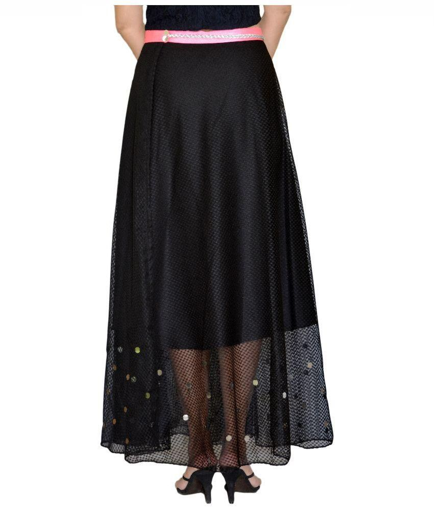 Buy DeeVineeTi Black Net Maxi Skirt Online at Best Prices in India ...