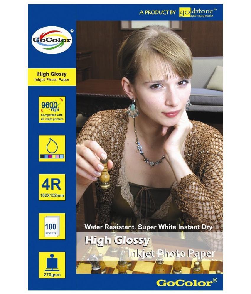 Gocolor High Glossy Inkjet Photo Paper 180 GSM 200 Sheets 4R Size