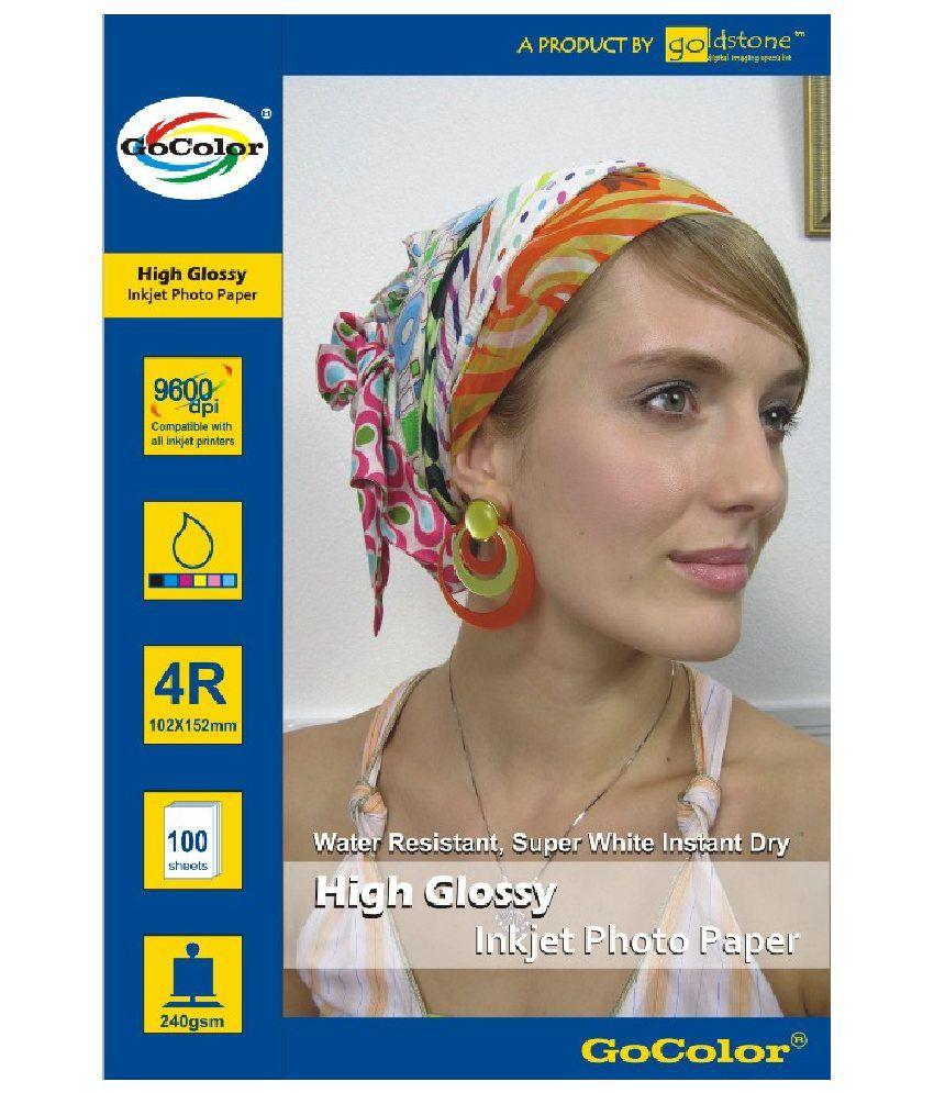 GoColor High Glossy Inkjet Photo Paper 240 GSM 200 Sheets 4R Size