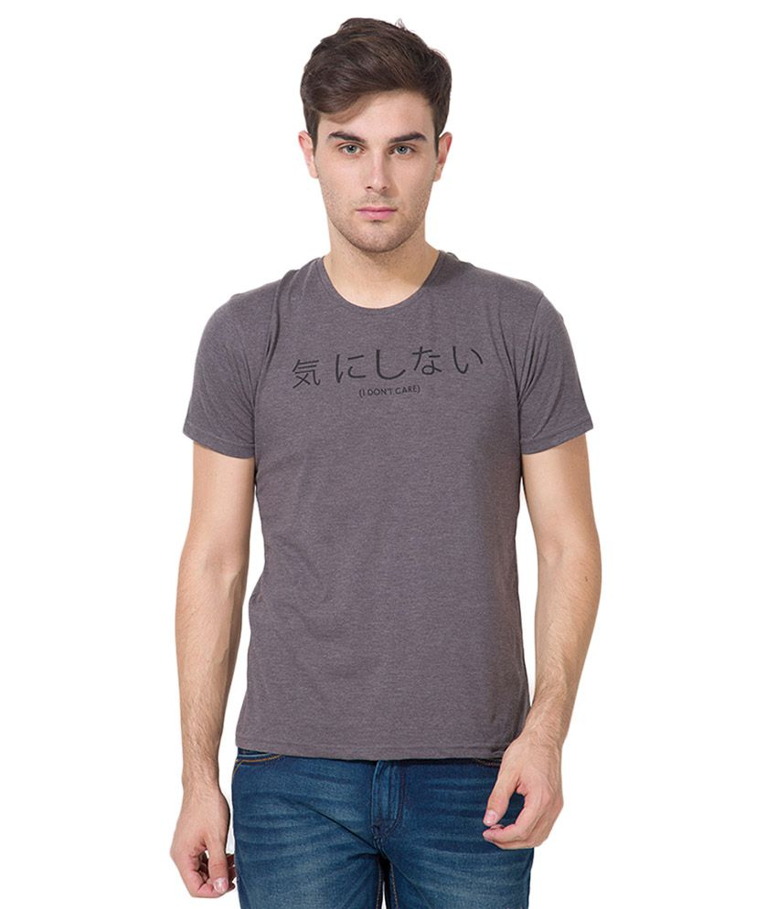 Locomotive Grey Round Neck T Shirt
