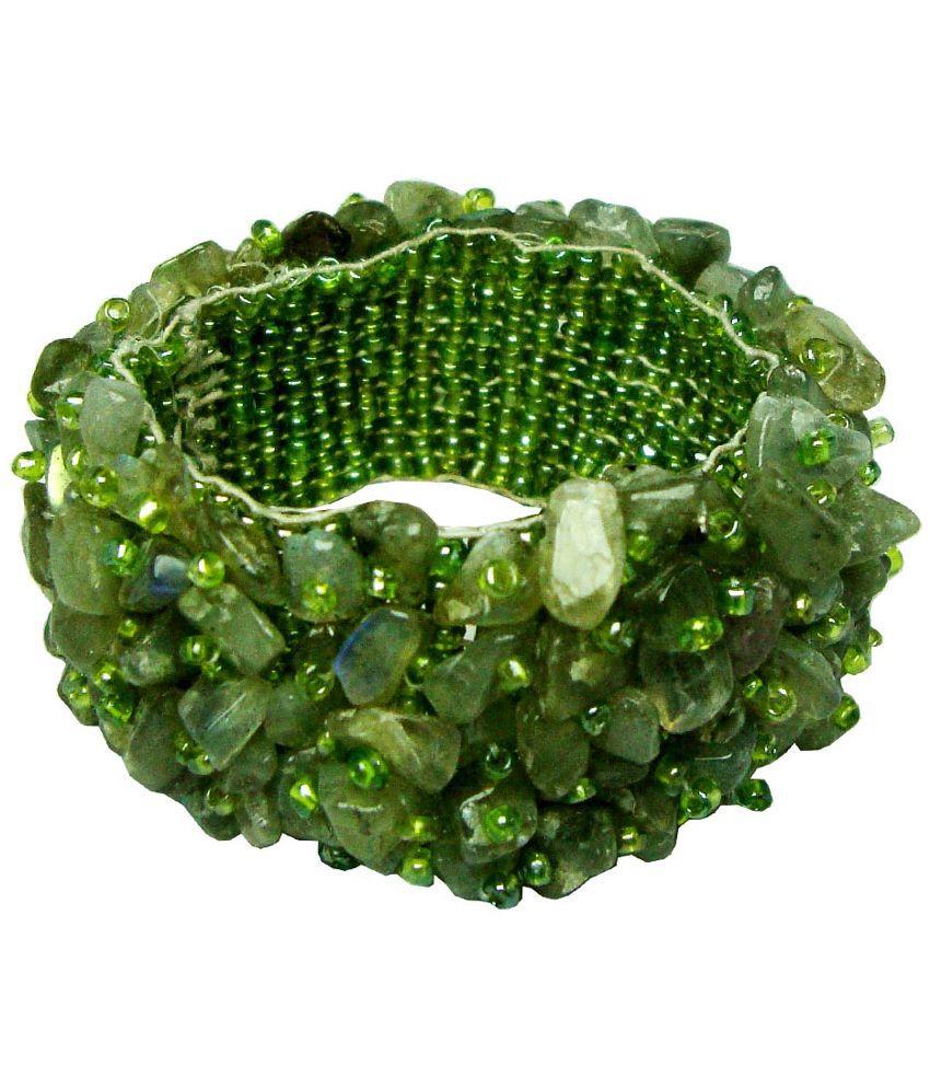 Satyamani Green Alloy Bracelet