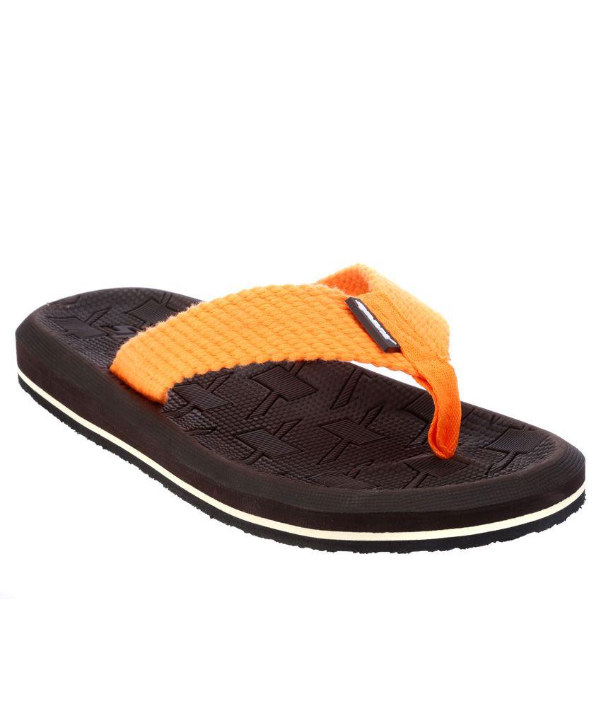 Sparx Orange Flip Flops