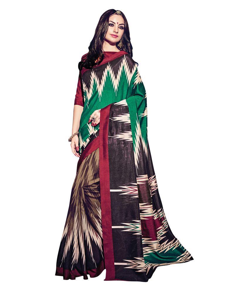 Swaron Multicoloured Bhagalpuri Silk Saree