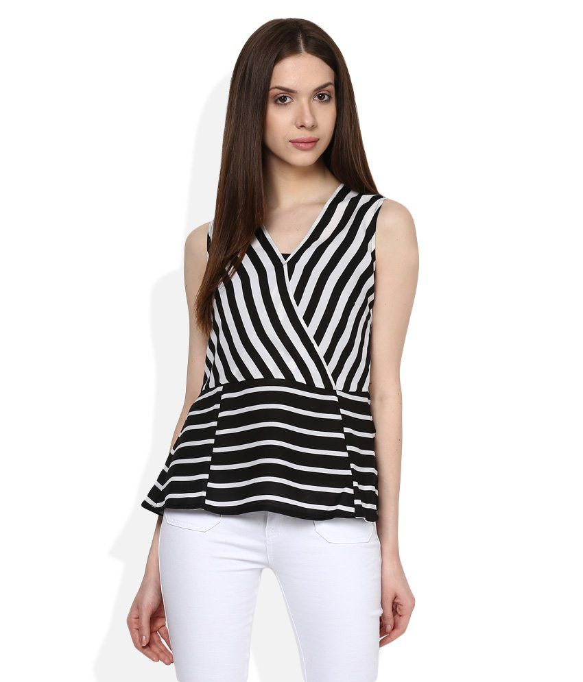 1cdba69af42 United Colors of Benetton Black & White Striped Top - Buy United Colors of  Benetton Black & White Striped Top Online at Best Prices in India on  Snapdeal