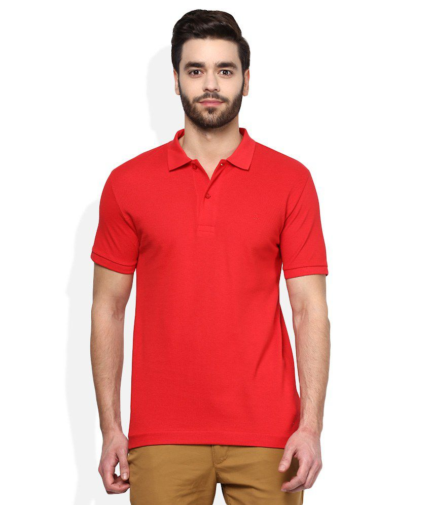 United Colors of Benetton Red Polo Neck T Shirt