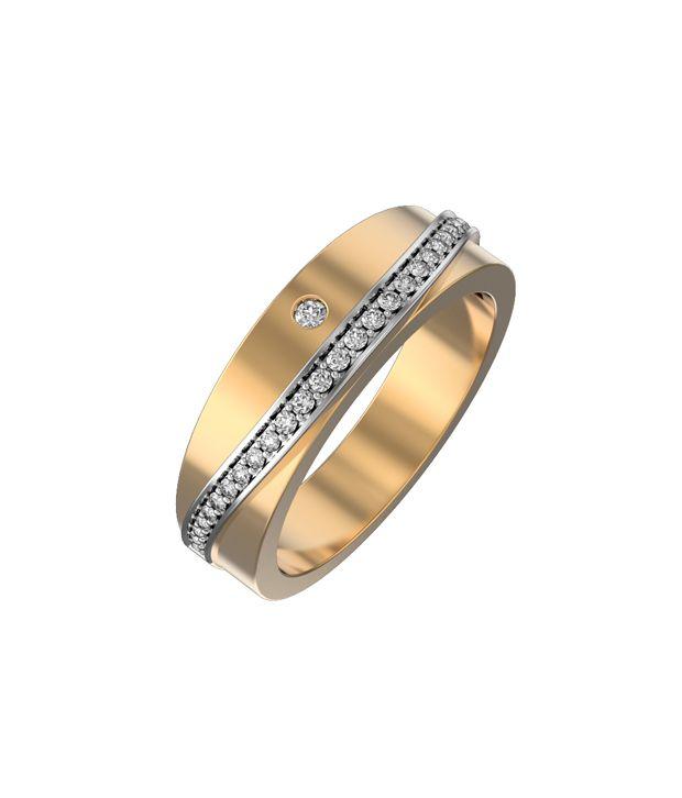 I Love Diamonds EGL Certified 18kt Gold Band Ring