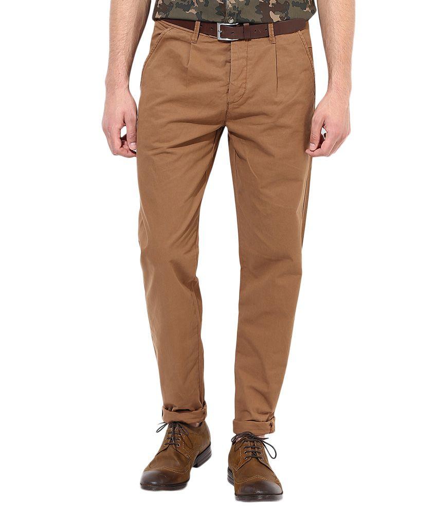 Jack & Jones Brown Slim Fit Trousers