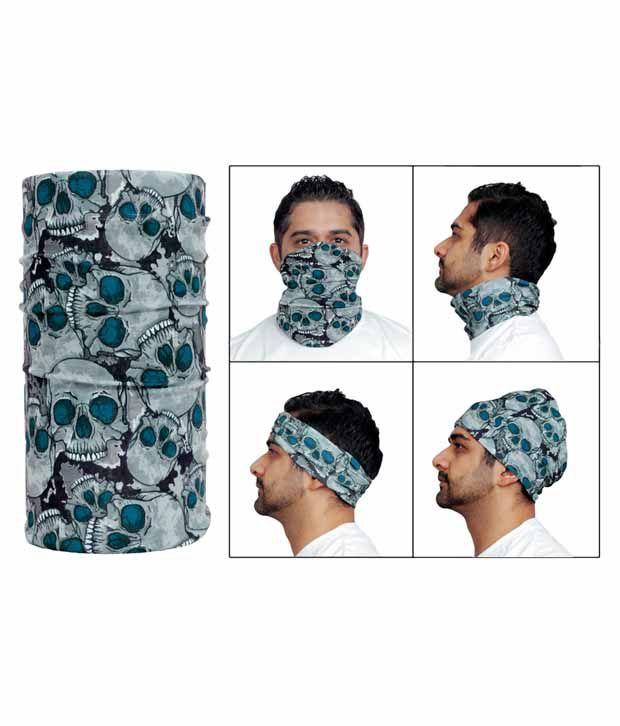 Jazzmyride Multifunctional Headwrap / Mask / Scarf-Skull Cluster